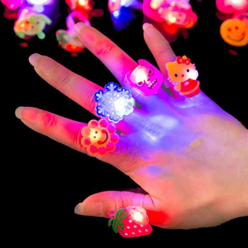 Luminous Rings,'s Flash, Led Cartoon Lights, Glow In The Dark For Childs, Kids, Playing In Night