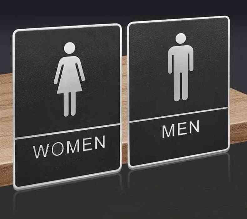 Doorplate Signs Creative Toilet Wall Sign Decor