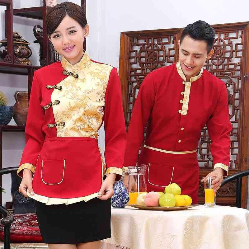 Men And Women Long-sleeved Hotel Autumn And Winter Clothes Overalls