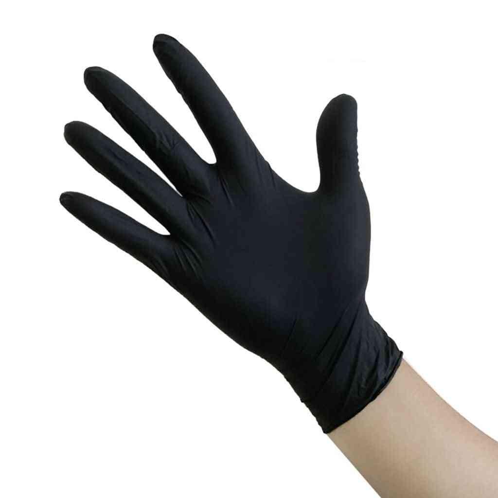 100pcs Black Guantes Latex Gloves