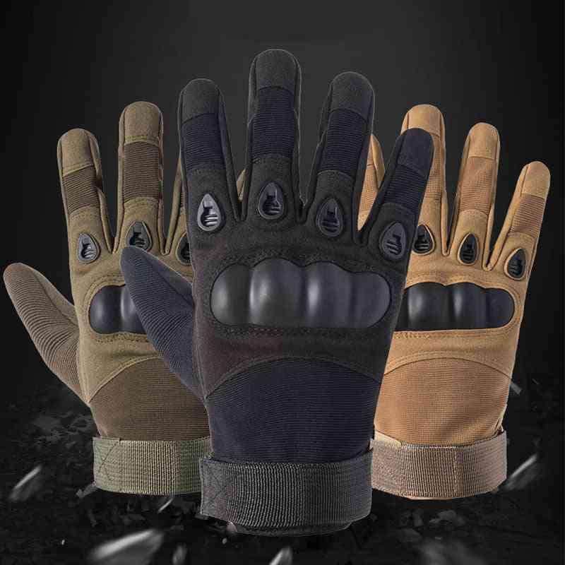 Men High-quality Army Military Tactical Full Finger Gloves