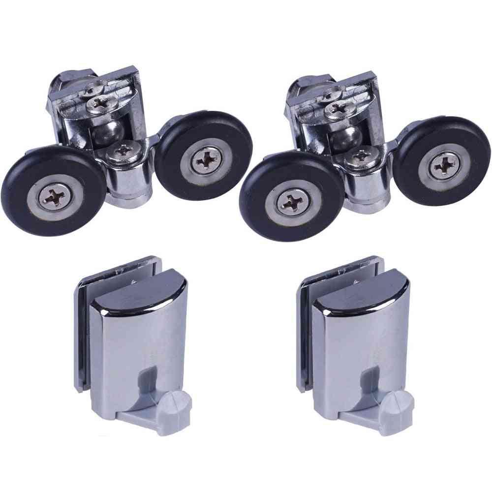 Two Shower Door Rollers/runners/ 2 Hooks/guides Wheels Diameter