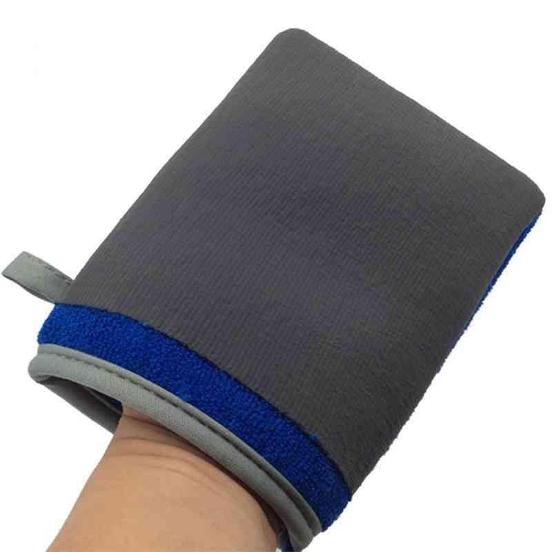 Magic Clay Bar Mitt & Auto Care Cleaning Towel Microfiber Sponge Pad Clay Cloth