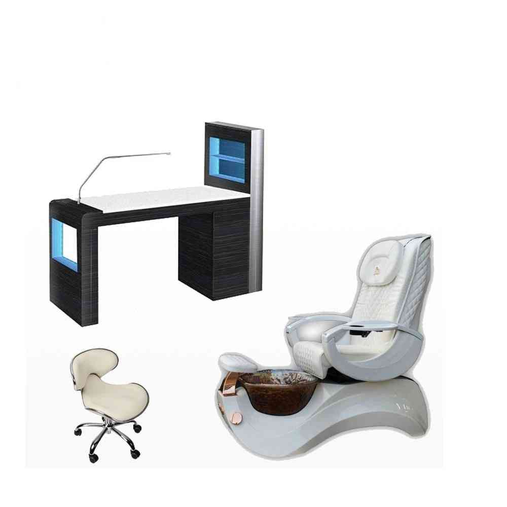 Used Pedicure Chair With De Massage Of Portable Massage Table