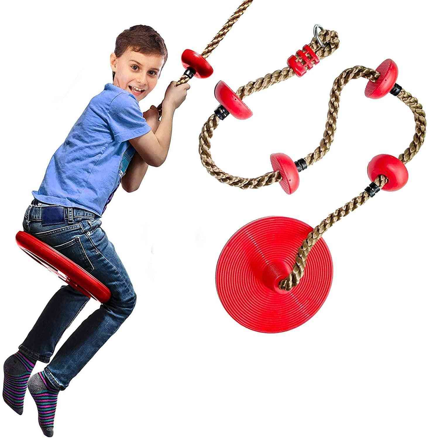 Exciting Tree Swing Climbing Rope With Platforms / Strap For Tree