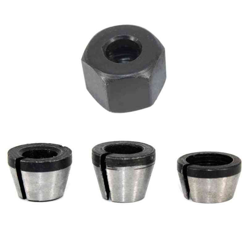 Collet Chuck Adapter With Nut Engraving Trimming Machine