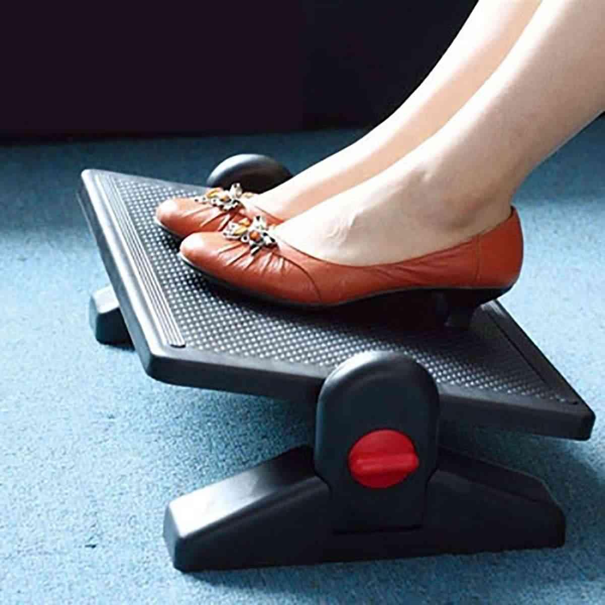 Ergonomic Adjustable Under Desk Foot Rest Stool