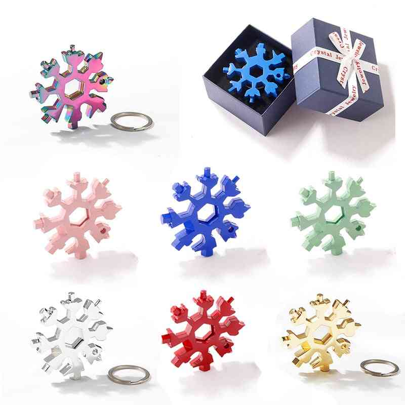 Portable Snowflake Tool With Key Ring