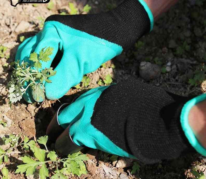 Abs Plastic Garden Rubber Gloves