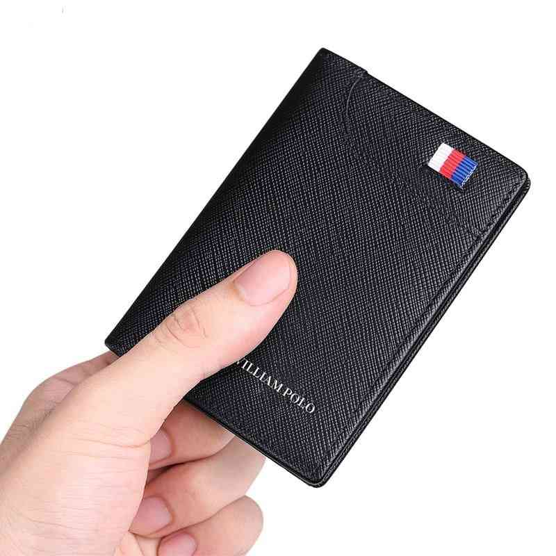 Male Leather Vertical Ultra-thin Card Holder
