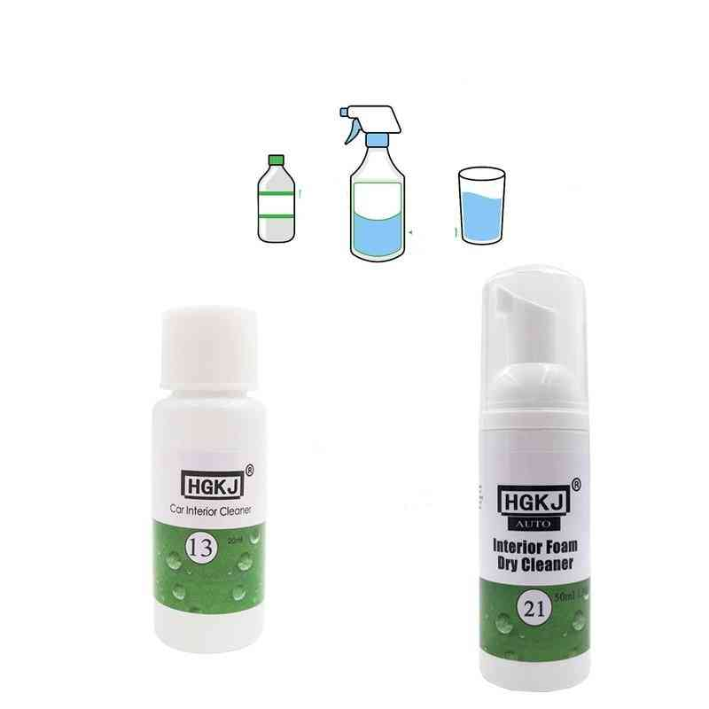 Hgkj Car Leather Seat Interiors Cleaner Auto Leather Clean Wash Maintenance Surfaces Foaming Agent Auto Car Accessories