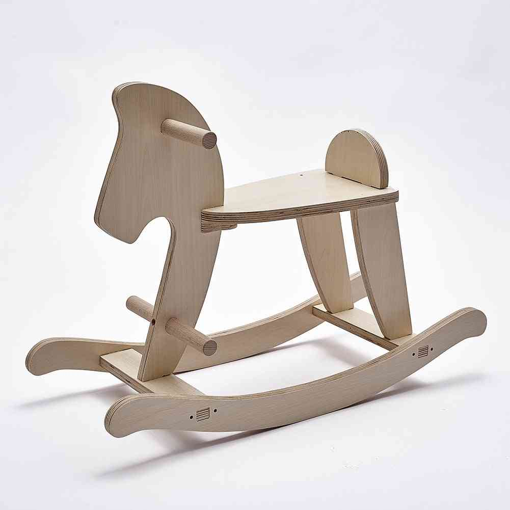 Wooden Rocking Horse, Baby Sitting,'s Educational,'s Room Decorations
