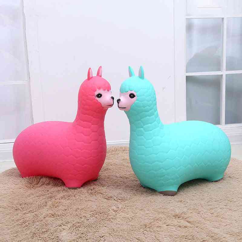Baby Alpaca Bouncy, Inflatable Ride On Animal, Sports Jumping Horse, Thicken Pvc, Kids