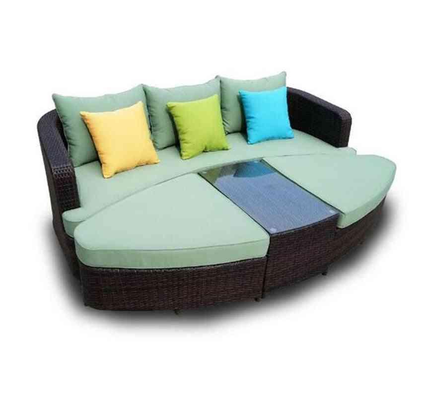 Patio Garden Wicker Outdoor Sofa Bed Furniture