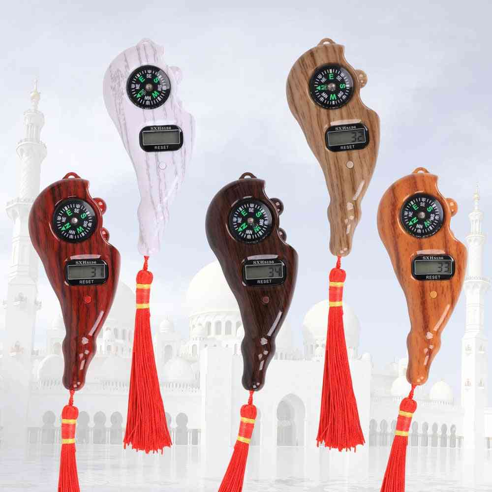 Digital Tasbih Electronic Rosary Tally Counter With Compass