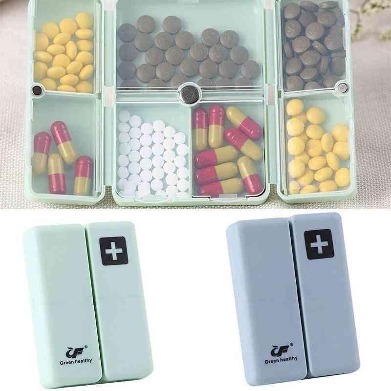 Tablet Pill Medicine Box, Holder Storage Container