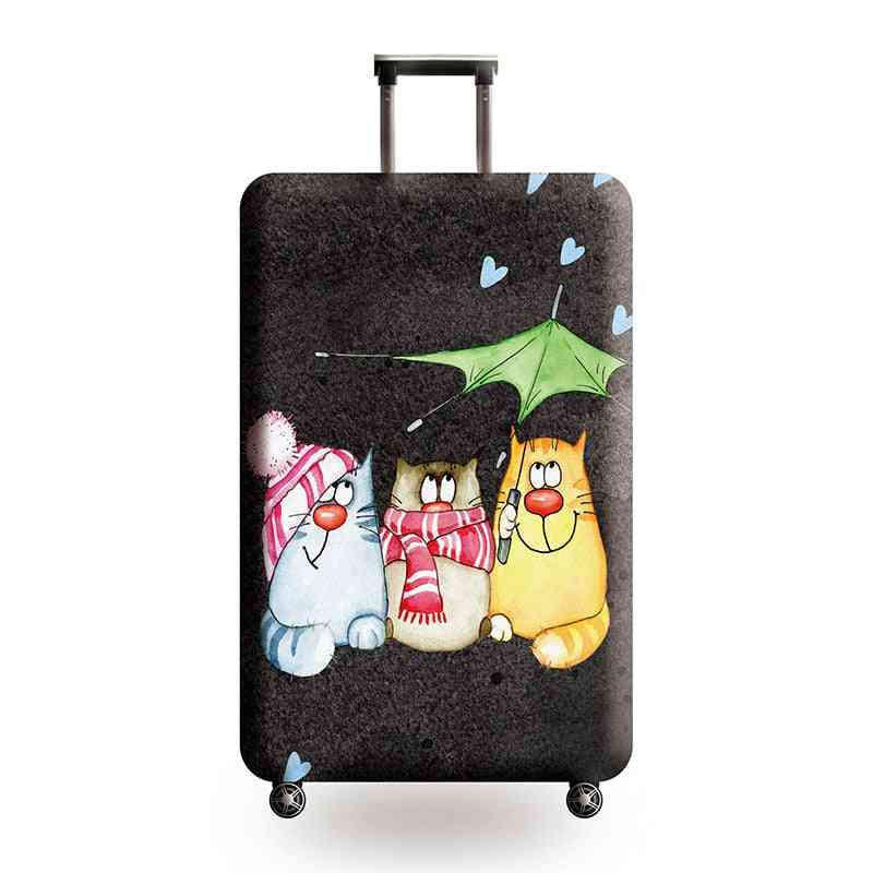 Password Box Trolley Case Cat Pattern Protective Cover