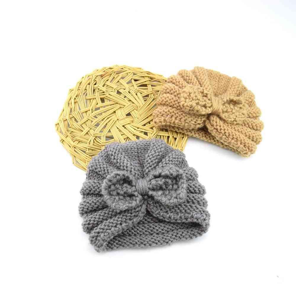 Baby Winter Hat, Bows Beanie Turban Hats Kids Cap