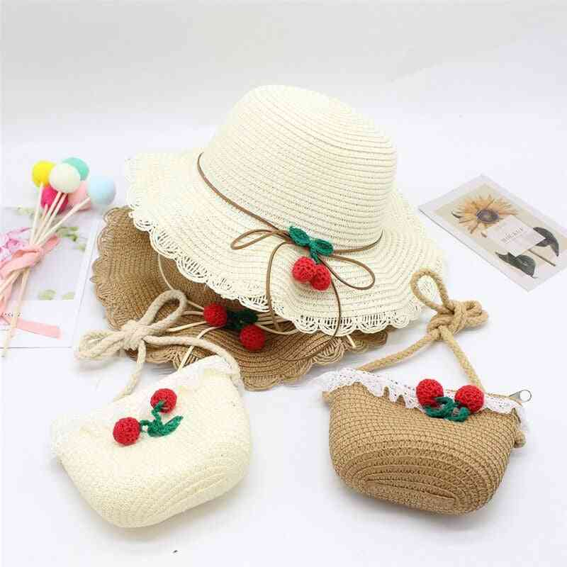 Summer Baby Flower Breathable Hat Straw, Kids Hat