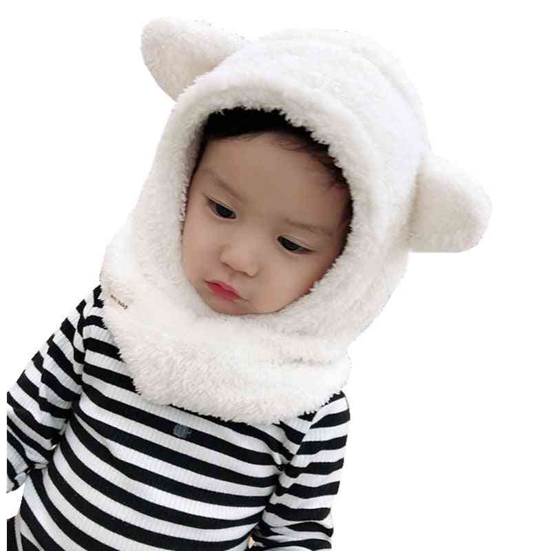 Children Hooded Hats, Thickened Ear Cap