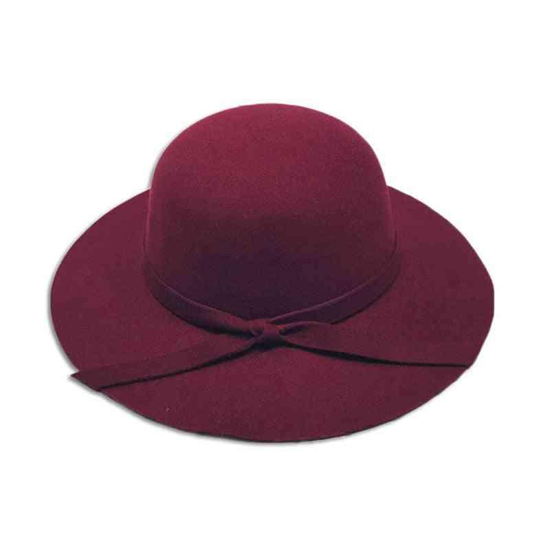 Winter Bowknot Floppy Sun Hat Cap