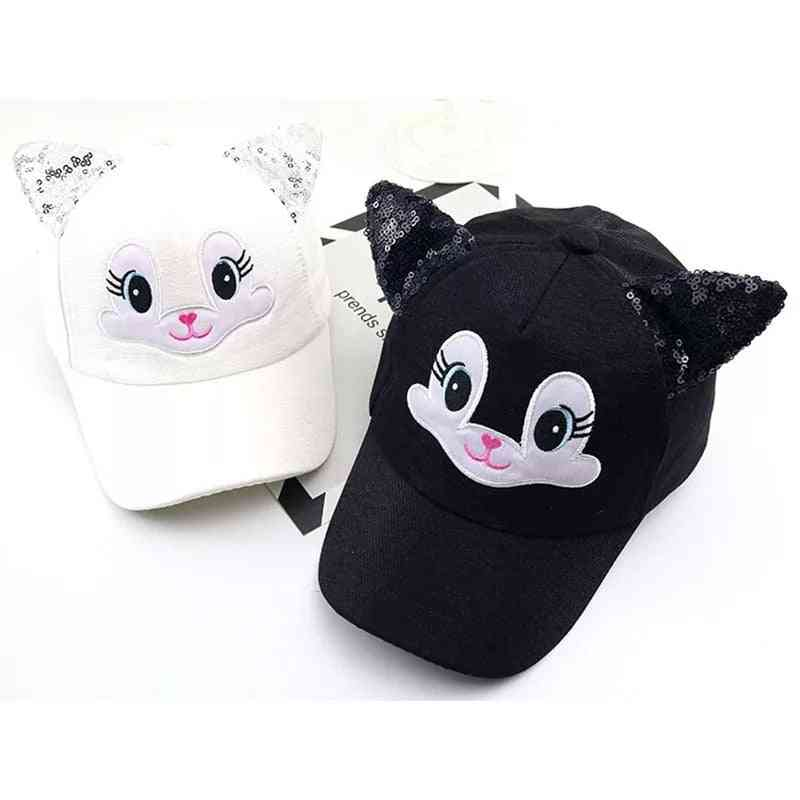 Child Cat Baseball Caps, Summer Baby Boy Girl Sun Hats