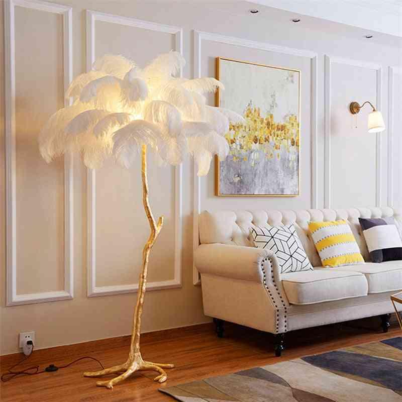 Nordic Luxury Ostrich Feather Floor Lamp
