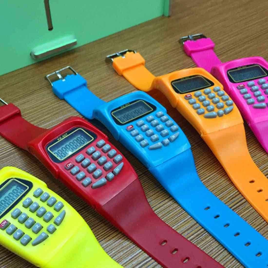Colorful Digital Calculator With Led Watch