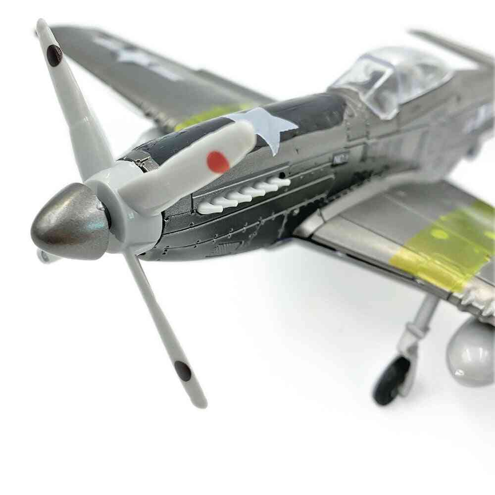 4d Mustang Fighter Assemble Model, World War Puzzle, Airplane, Aircraft Collections Scene Sandpan, Game Toy