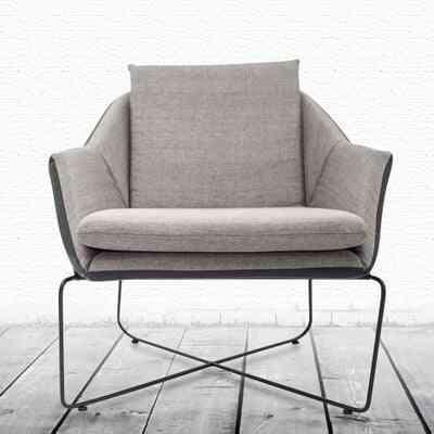 Louis Fashion Cafe Chairs Nordic Single Leisure Sofa Modern Concise Shop