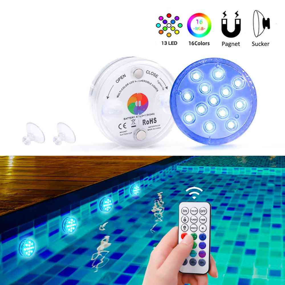 Submersible With Magnet 13 Led Underwater Night Light