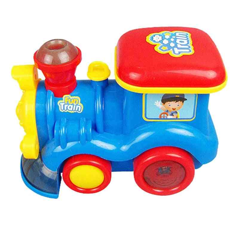 Go Steam Train Locomotive For Kids, Classic Battery Operated Toy Engine Car With Smoke, Lights And Sound.