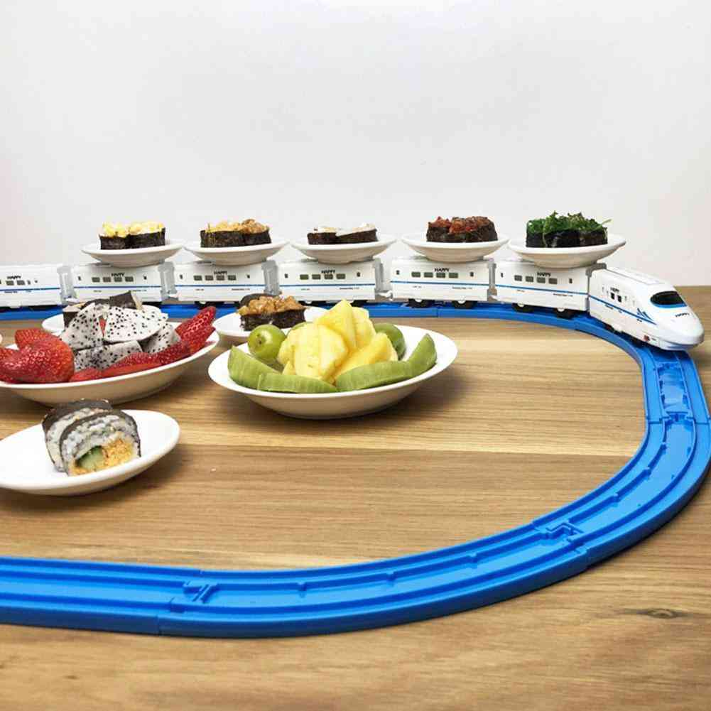 Eat Revolving Sushi Toy Train, Electric Rail Car, Simulation House At Play For Children.