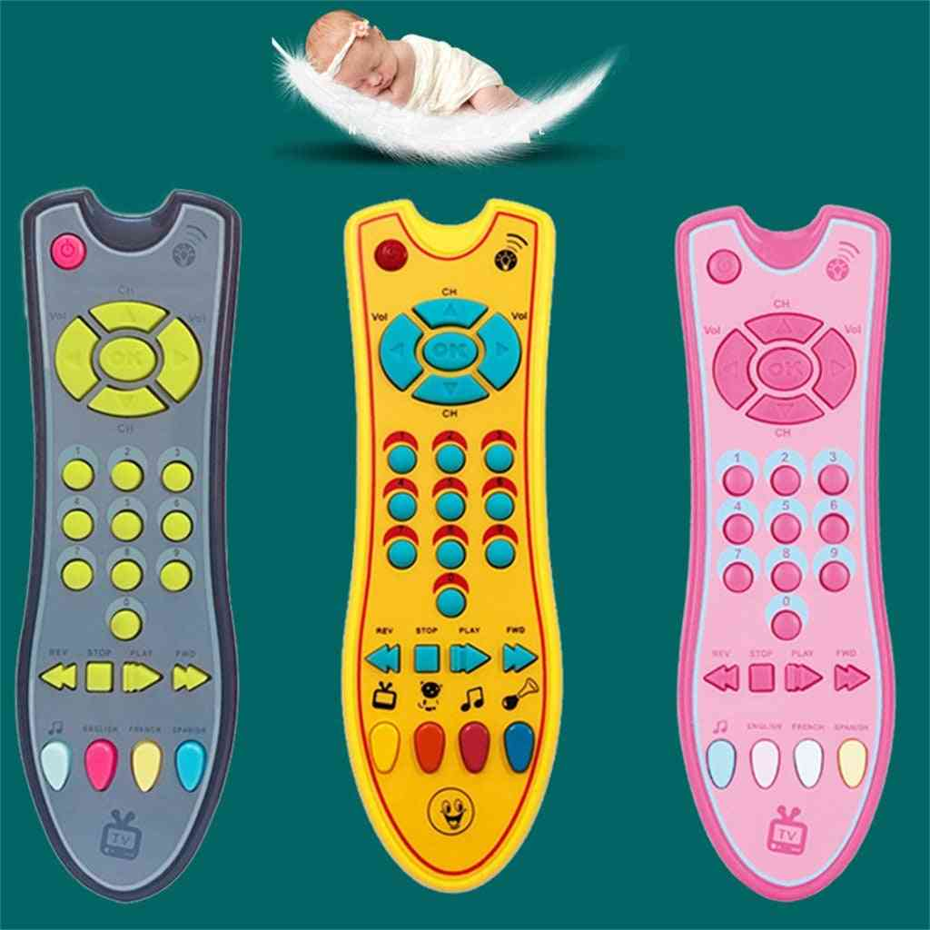 Kids Musical Tv Remote Control Toy, Baby Simulation Mobile Phone, Kids Educational Music