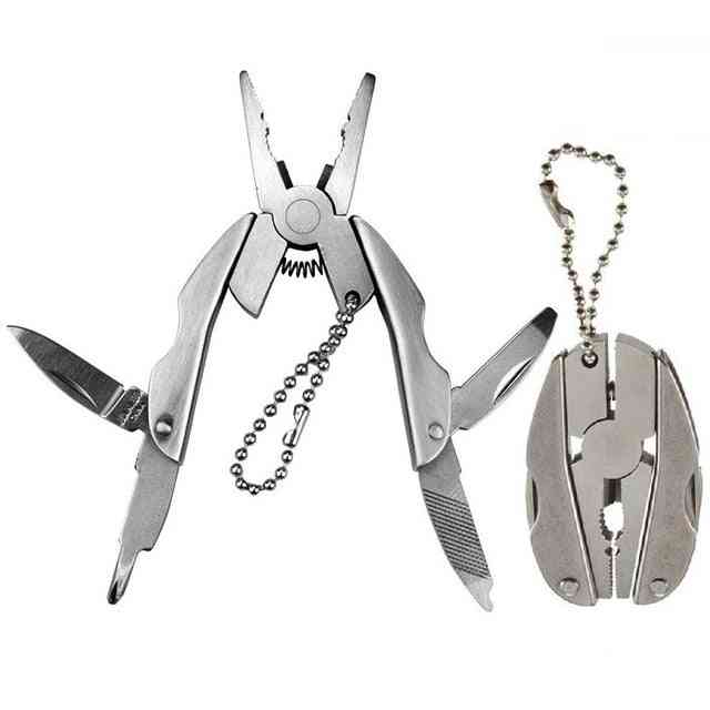 Portable Multitool Pliers Knife Keychain Screwdriver