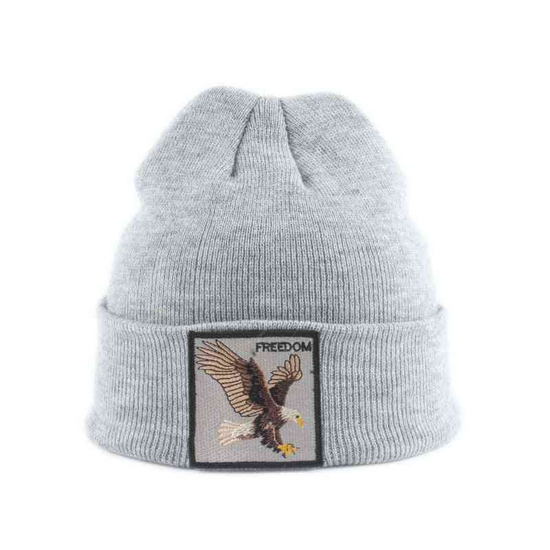 Kids Beanie Animal Embroidery Winter Hats