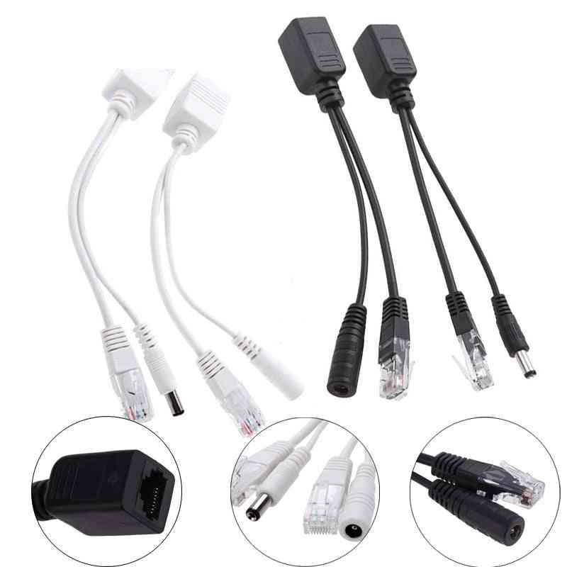 Anpwoo Poe Adapter Cable Injector Splitter Kit Tape Screened Passive Power Over Ethernet12-48v Synthesizer Separator Combiner