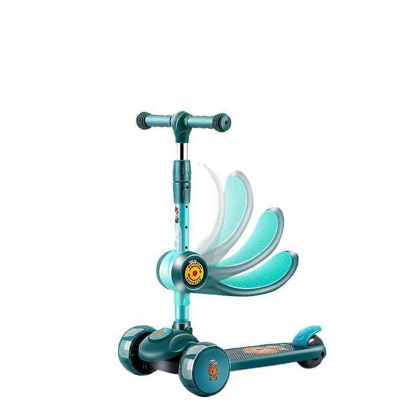 Child Scooter Two Modes 3 Wheels Scooters Led Shine Balance Bike Adjustable Height Can Sit Skateboard Kick For Sport Toy