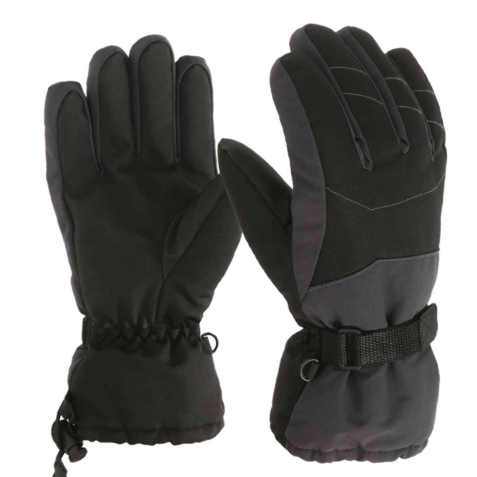 Children's Warm Ski Riding Winter Windproof And Waterproof Gloves