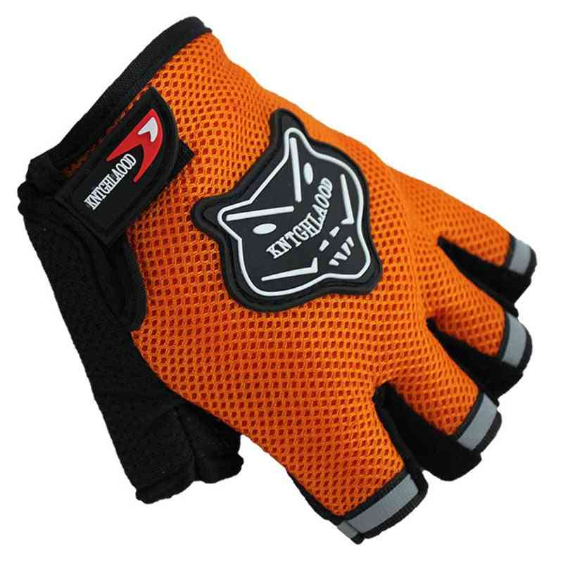 Kids Half Finger Breathable Anti-slip For Sports Riding Cycling Gloves
