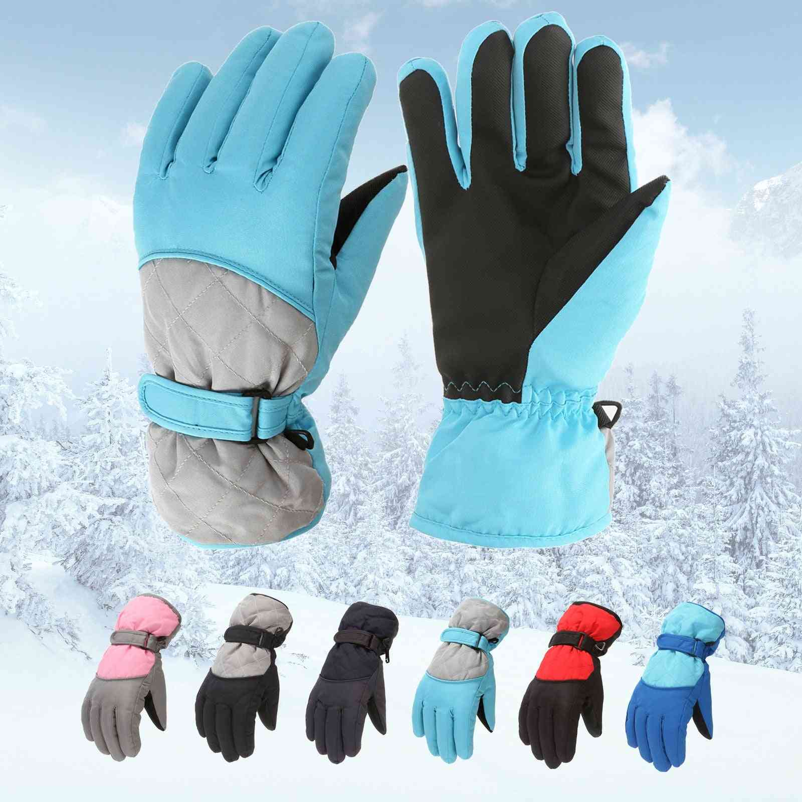 Kids Windproof Mittens Cycling Bicycle Bike Outdoor Camping Sports Ski Warm Gloves 6-11years