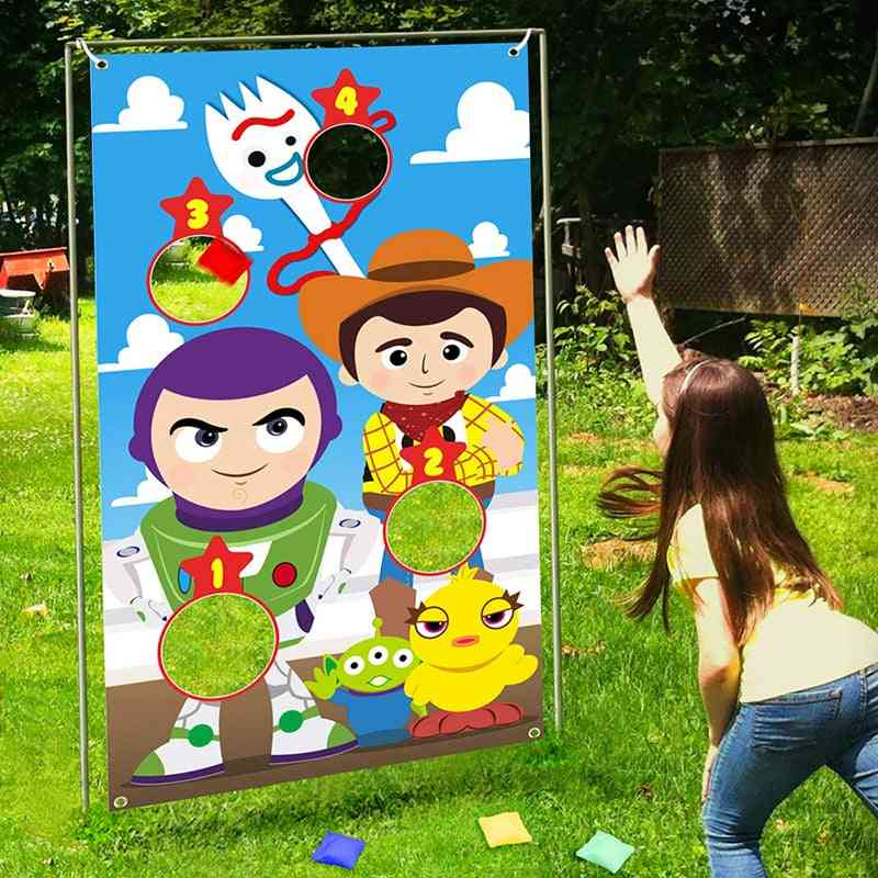 Toss Games Banner With Bean Bags, Party Decoration For And Adults, Indoor, Outdoor Throwing Game