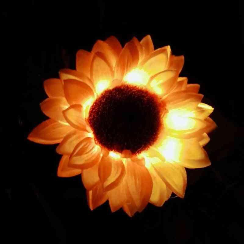 Led Solar Sunflower Ground Lamp