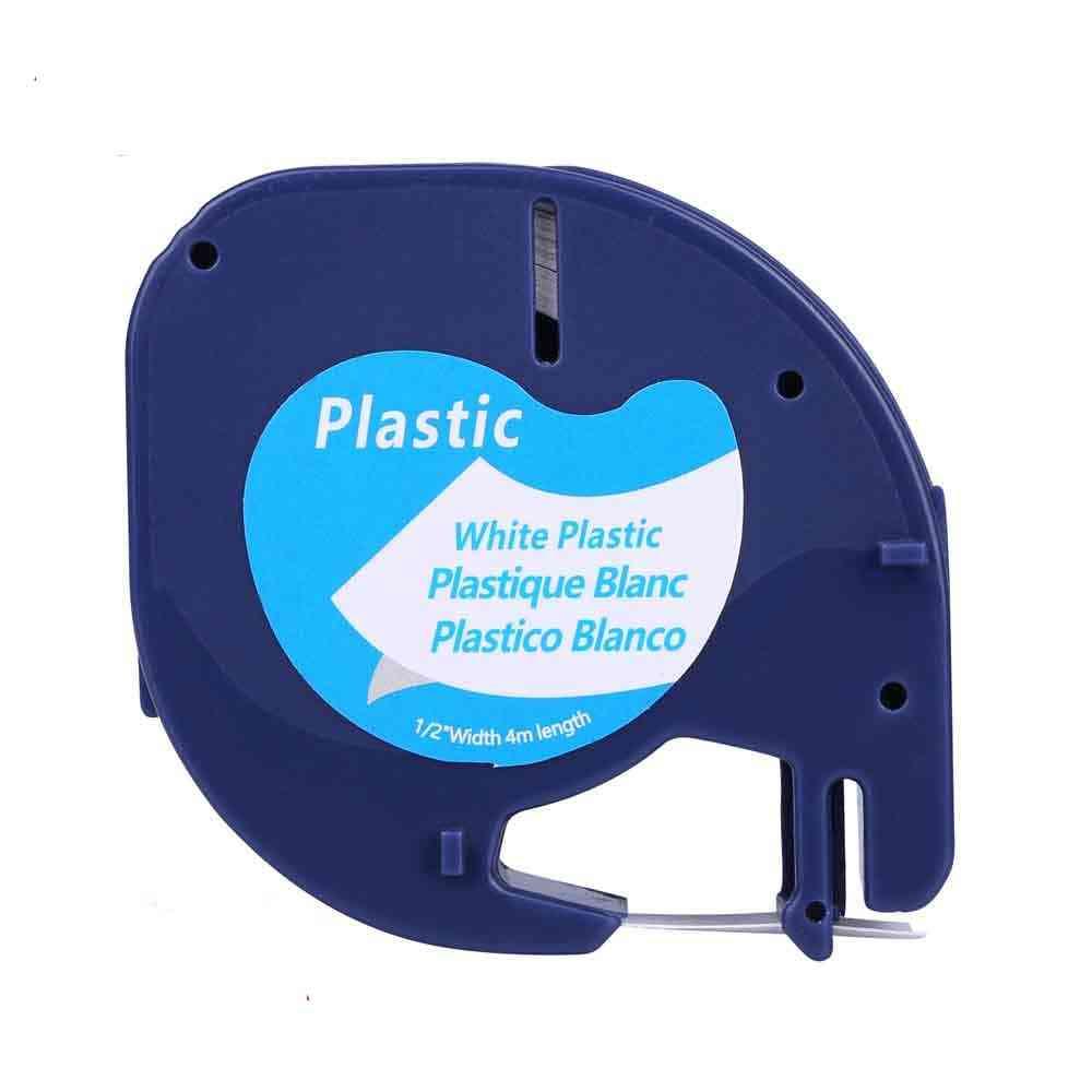 Black On White (12mm X 4m) Plastic Label Tapes 91331 91221 59422 S0721660