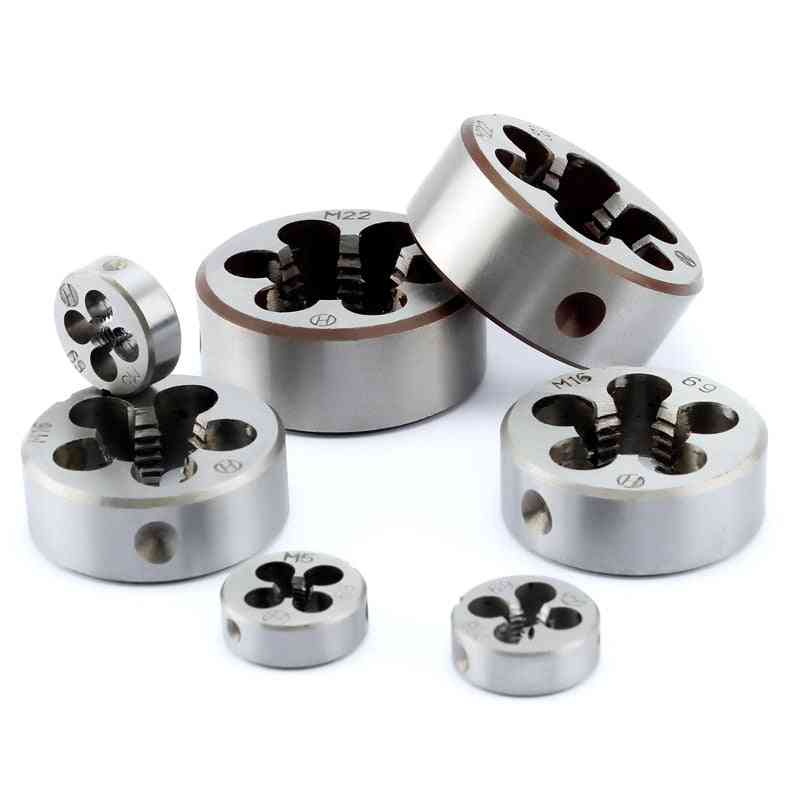 Alloy Steel 1pcs Hard Round Die Tap Threading Metric Mini Dies Set