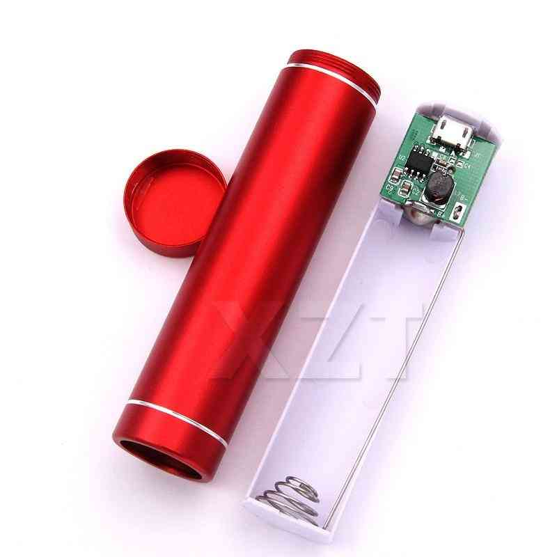 Diy Battery Power Bank Holder Case Clip Storage Box Usb Output 5v 1a Power Container Store Charger For Phone Mp4