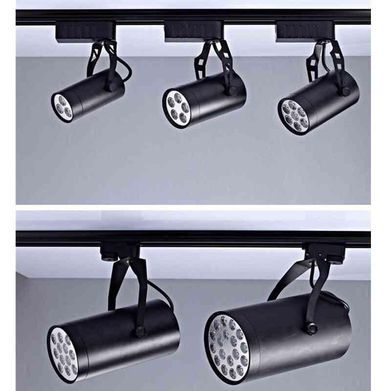 Aluminum Connector System Tracks Fixture Black White Universal Rails