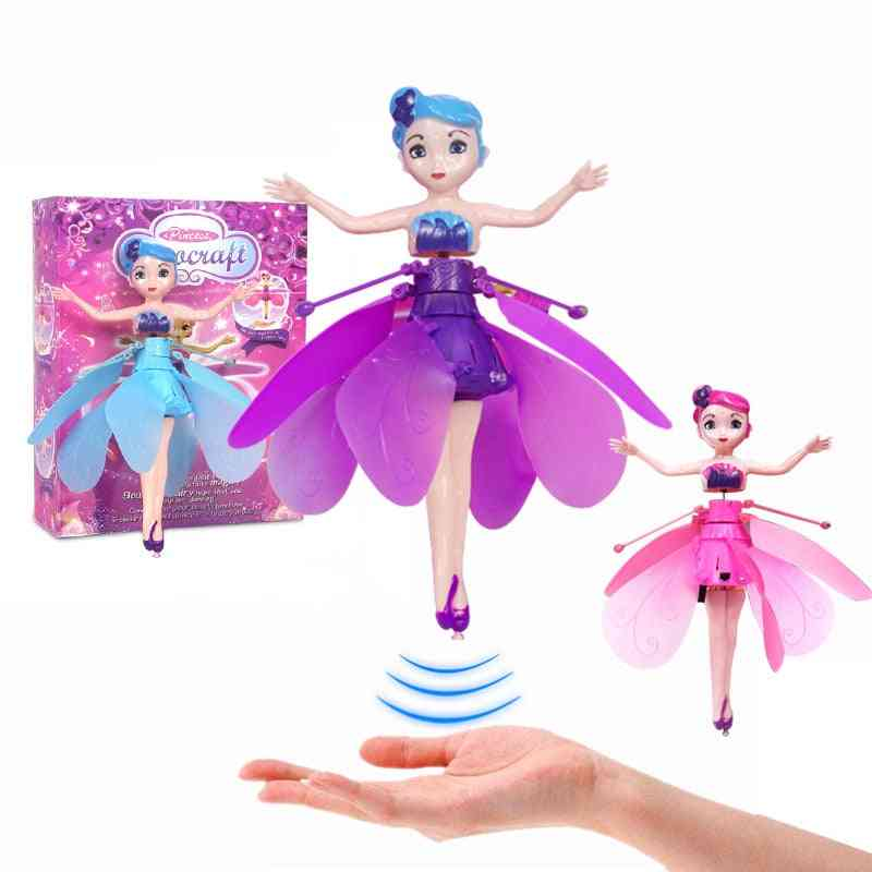 Induction Fairy Flying Toy, Gesture Motor Vehicle Levitating, Remotely Operated Aircraft, Girl's