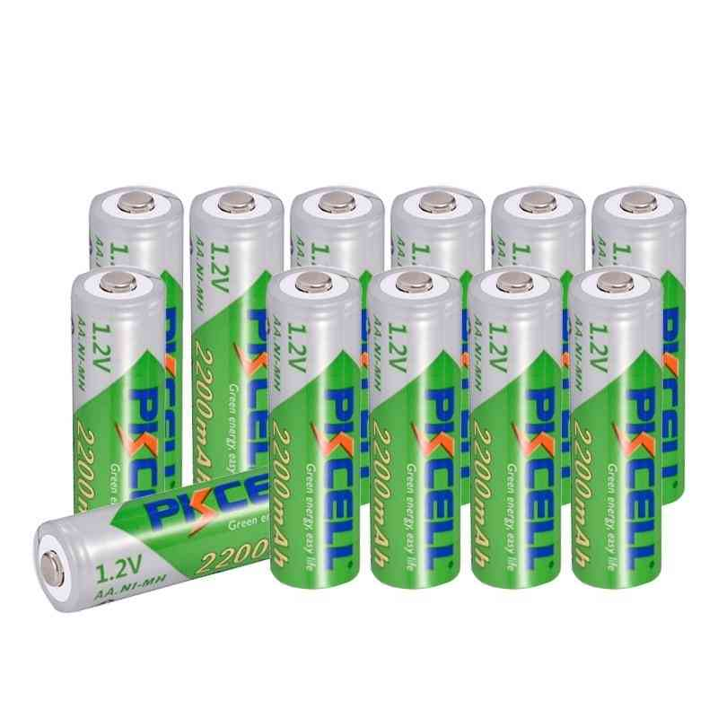 Aa Battery Nimh Rechargeable Batteries 1.2v 2200mah Low Self-discharge Durable For Toy Camera