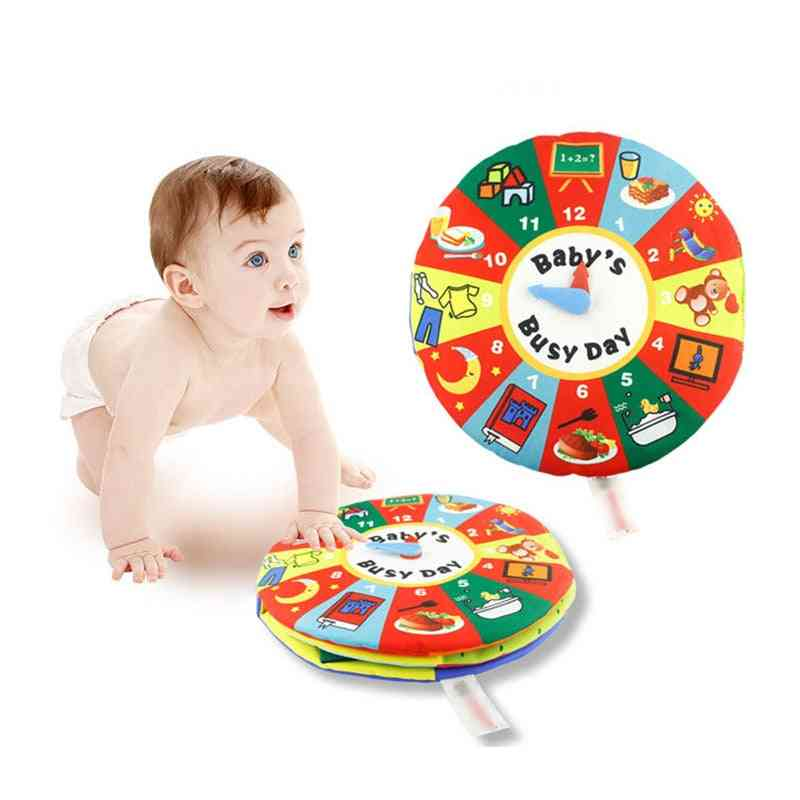 Baby Cloth Book,'s Montessori Enlightenment Time Management Learning, Cognitive Digital Educational Toy